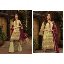 Heavy Embroidered Women Chiffon  Unstitch Suit