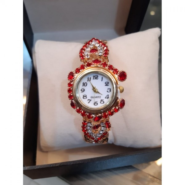 Womens Watch with beautiful stone bracelet
