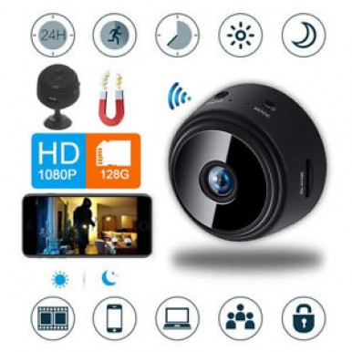 A9 1080P Remote Wireless Camera Security System Mini Cam WiFi Motion Detection For iPhone Android Phone iPad PC(in Black color)