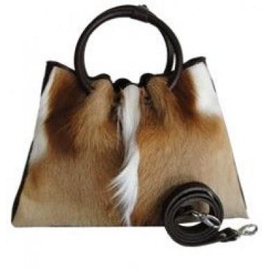 Cowhide Hair On Fur Woman Shoulder Hand Bag Cow Skin