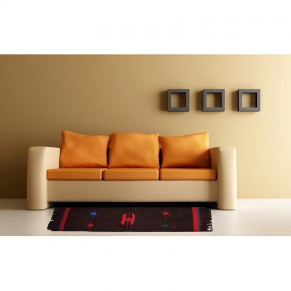 Hand Woven double layered floor Rug, Quality Woolen velvet