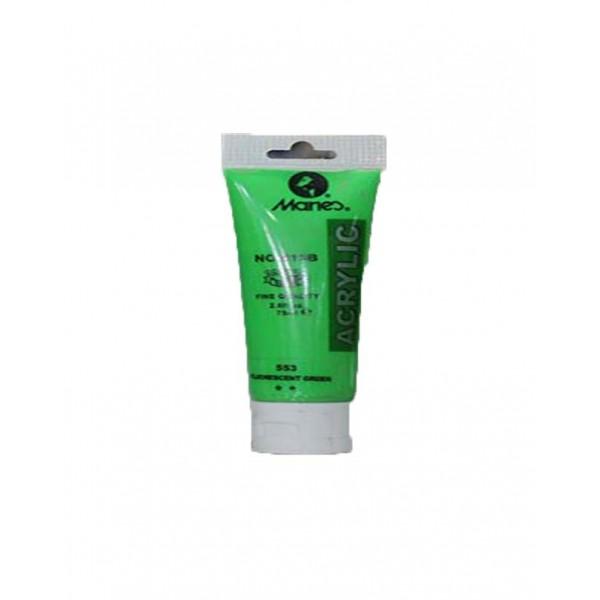 75ml Acrylic Paint Tubes - Fluorescent Green
