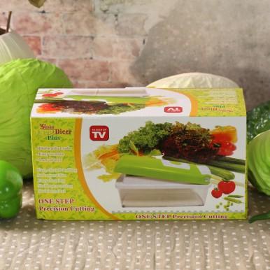 Nicer Dicer Plus By Genius Fruit vegetable Slicer Food-Chopper PRO Mandoline Kitchen-Cutter Dicer Stainless Steel
