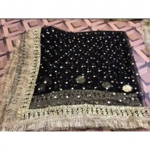 Black colour Kiran Lace and Gotta Work Dupatta