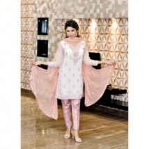 Pure Chiffon Embroidered Dress With Banarsi trouser