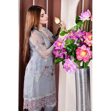 Chatoyant Angrakha  Vol-1 Luxury Chiffon Embroidered Dress