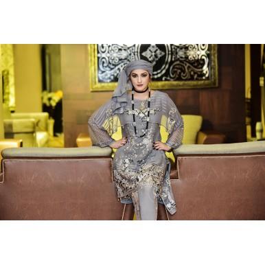 Flint Absurd  Vol-1 Luxury Chiffon Embroidered Dress