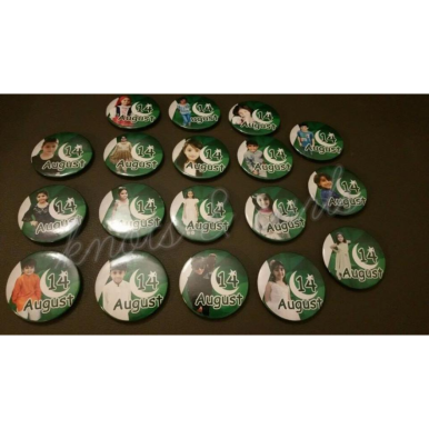 Pack of 5 Customized Badges for Independence day