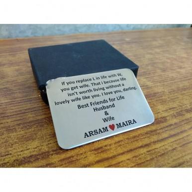 Customized Card In Metal