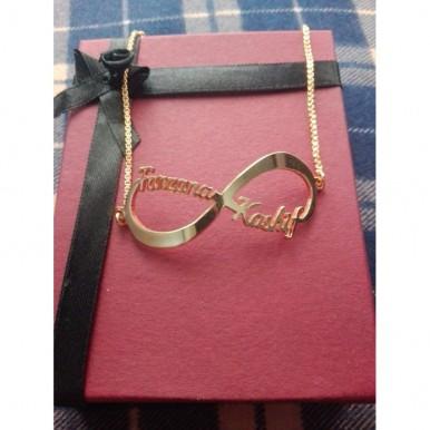 Customized Name Infinity Bracelet
