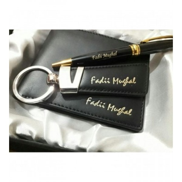 Customized Wallet, Pen and Key Ring
