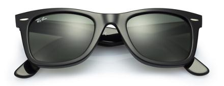 Black Lens Ray Ban Wayfarer