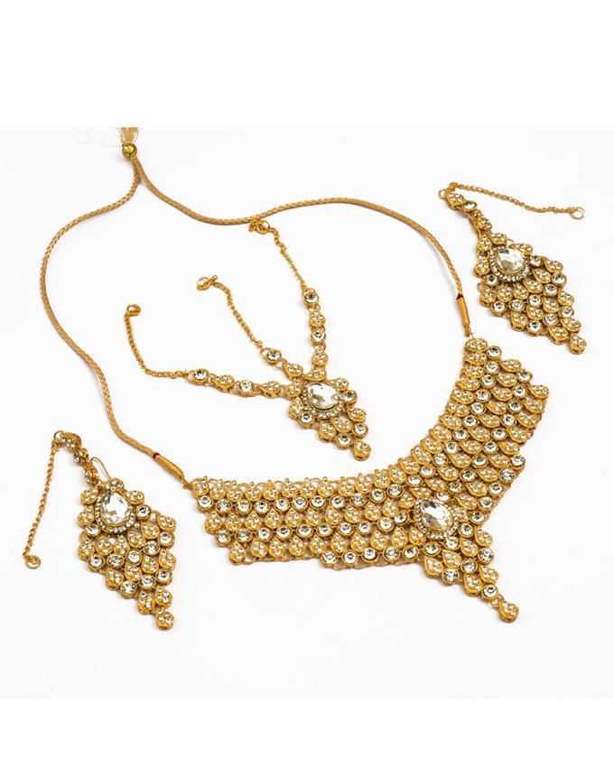 Buy Gold Plated Bridal Set - Golden online in Pakistan | Buyon.pk