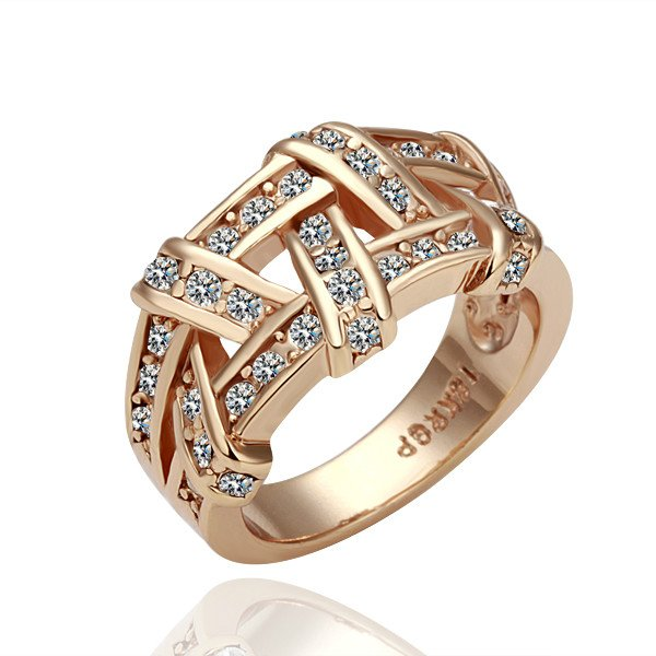 18k Gold Plated Diamond Style Ring