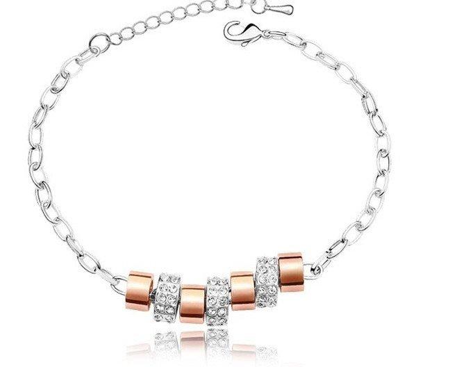 18k gold plated diamond balls bracelet