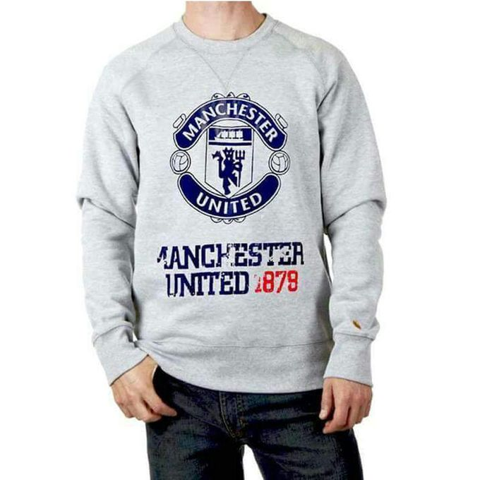 buy heather grey manchester united sweat shirt online in pakistan. Black Bedroom Furniture Sets. Home Design Ideas
