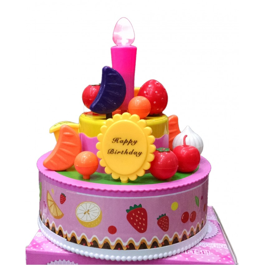 Toy Cake With Candles + Music For Kids