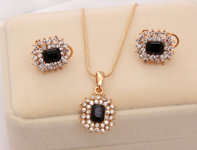 Wedding Gift For 6000 Rupees : Buy Top Quality 18k Gold Plated Bridal Black African Jewelry Sets ...