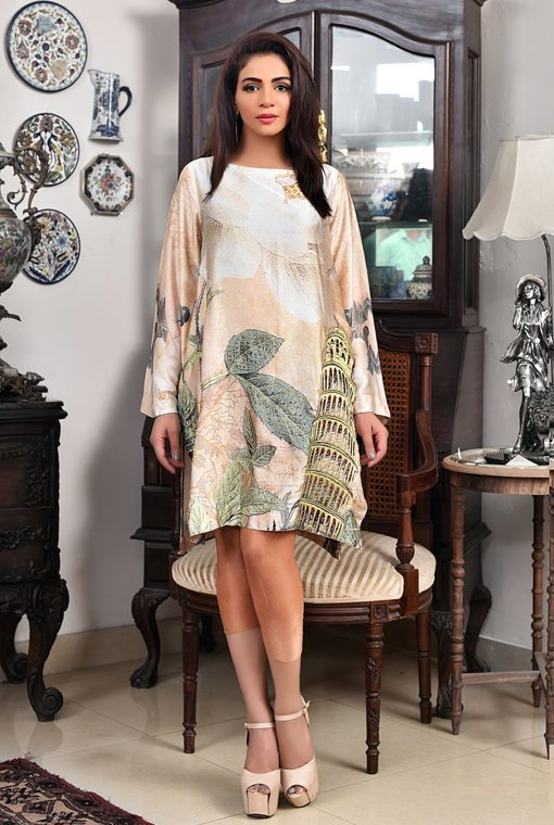 Silk Meeting In My Bedroom: Buy Spring Morning Silk Tunic For Meetings And Parties