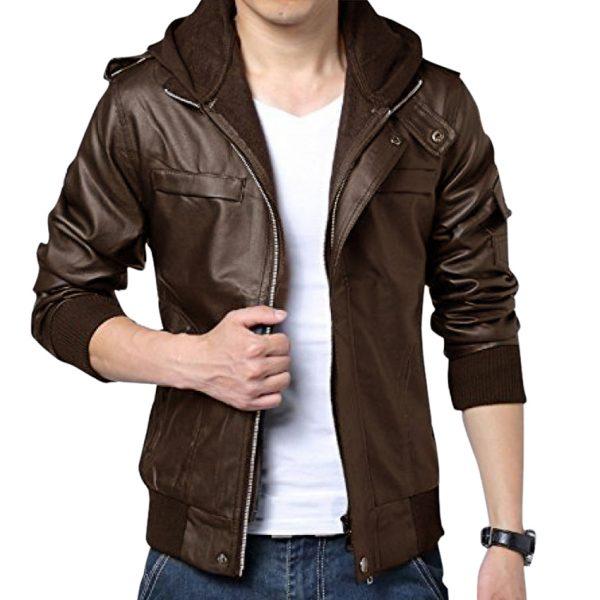 Buy Highstreet Fashion Brown Men Faux Leather Jacket