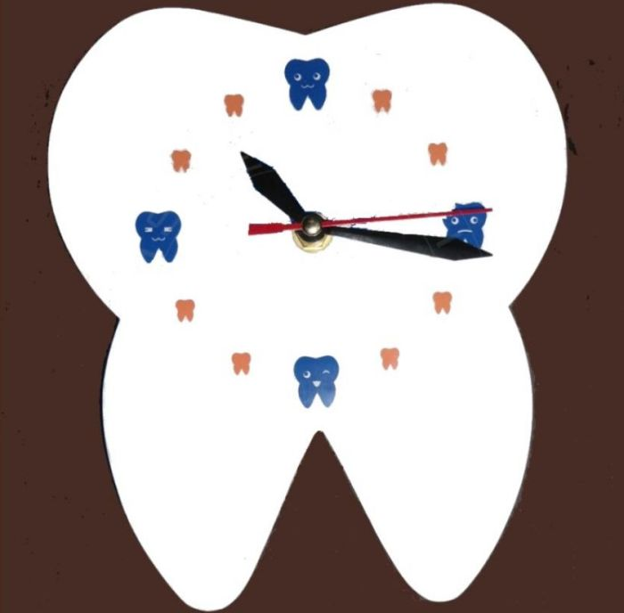 Buy Dental Theme Tooth Shaped Acrylic Wall Clock Online In