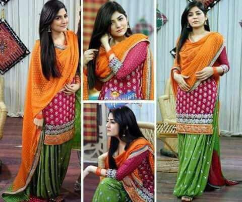 Beautiful Mehndi Mayo Collection Dress For Women