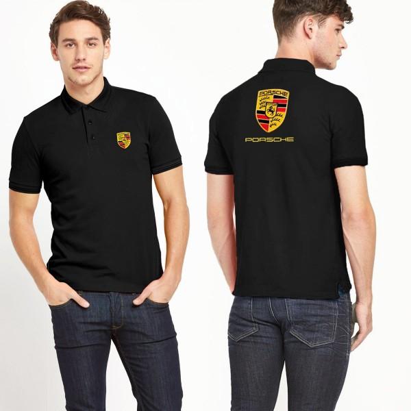 Men Porsche Polo Shirt Black