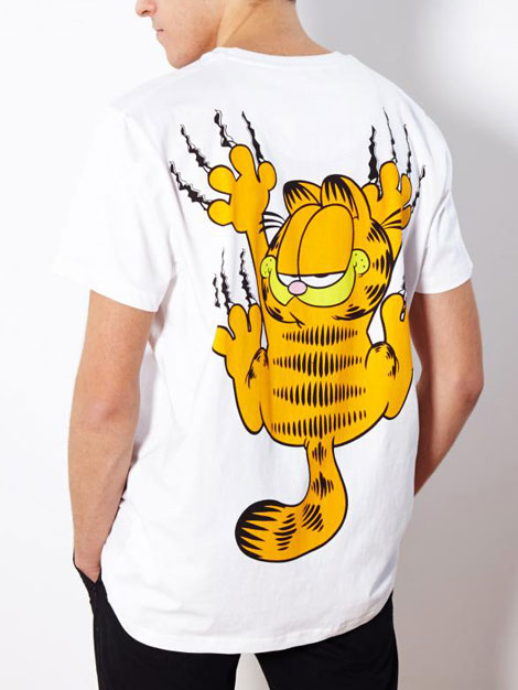 Garfield Back Print T Shirt